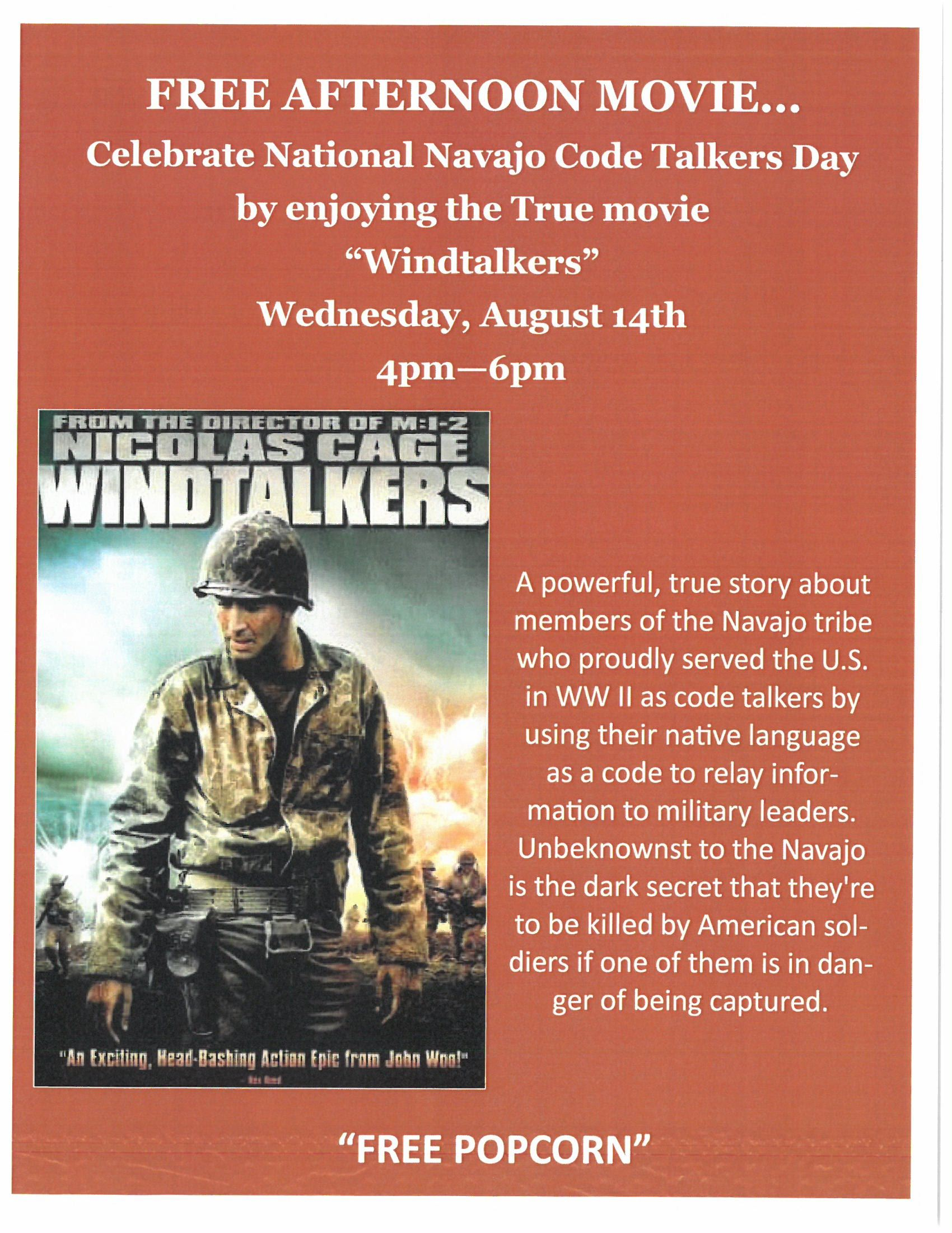 Windtalkers afternoon movie